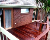 merbau timber decking with railing in melbourne
