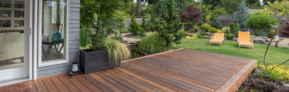 merbau timber decking in elegant melbourne garden