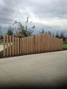 decorative fencing for community project in bayside suburb of melboune