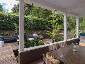 backyard with verandah