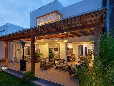 pergola with timber decking
