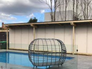 swimming pool glass pool fence and privacy screen