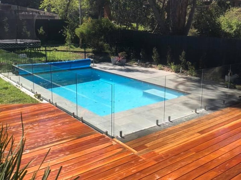 Decking With Glass Pool Fence Eltham 0417 397 535 Free Quotes