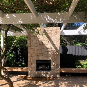 outdoor fireplace on decking melbourne