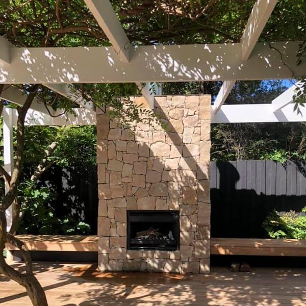 outdoor fireplace deck builder brighton