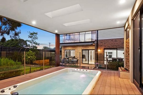 swim spa pool with timber decking melbourne