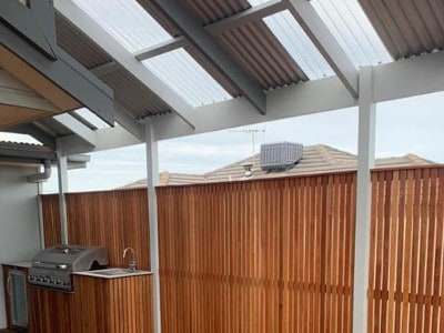 decorative fences of Melbourne home