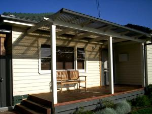 Front timber decking using jarrah tongue and groove