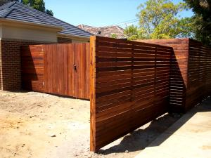 Merbau fence and gates