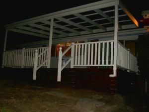 Verandah with painted timber handrails